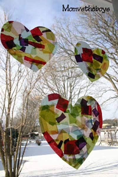 sun catcher hearts