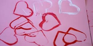 Valentine's Day Heart Stamping