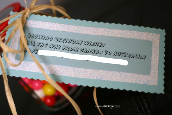 blowing wishes gift card