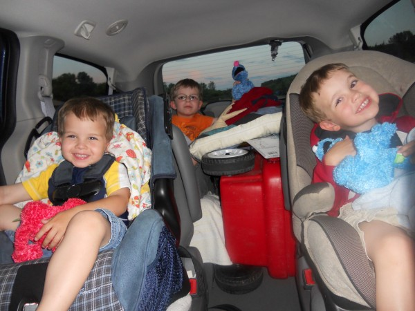 kids in the dodge grand caravan
