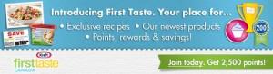 Kraft First Taste Canada!