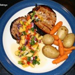 Jerk Pork Chops With Tropical Salsa