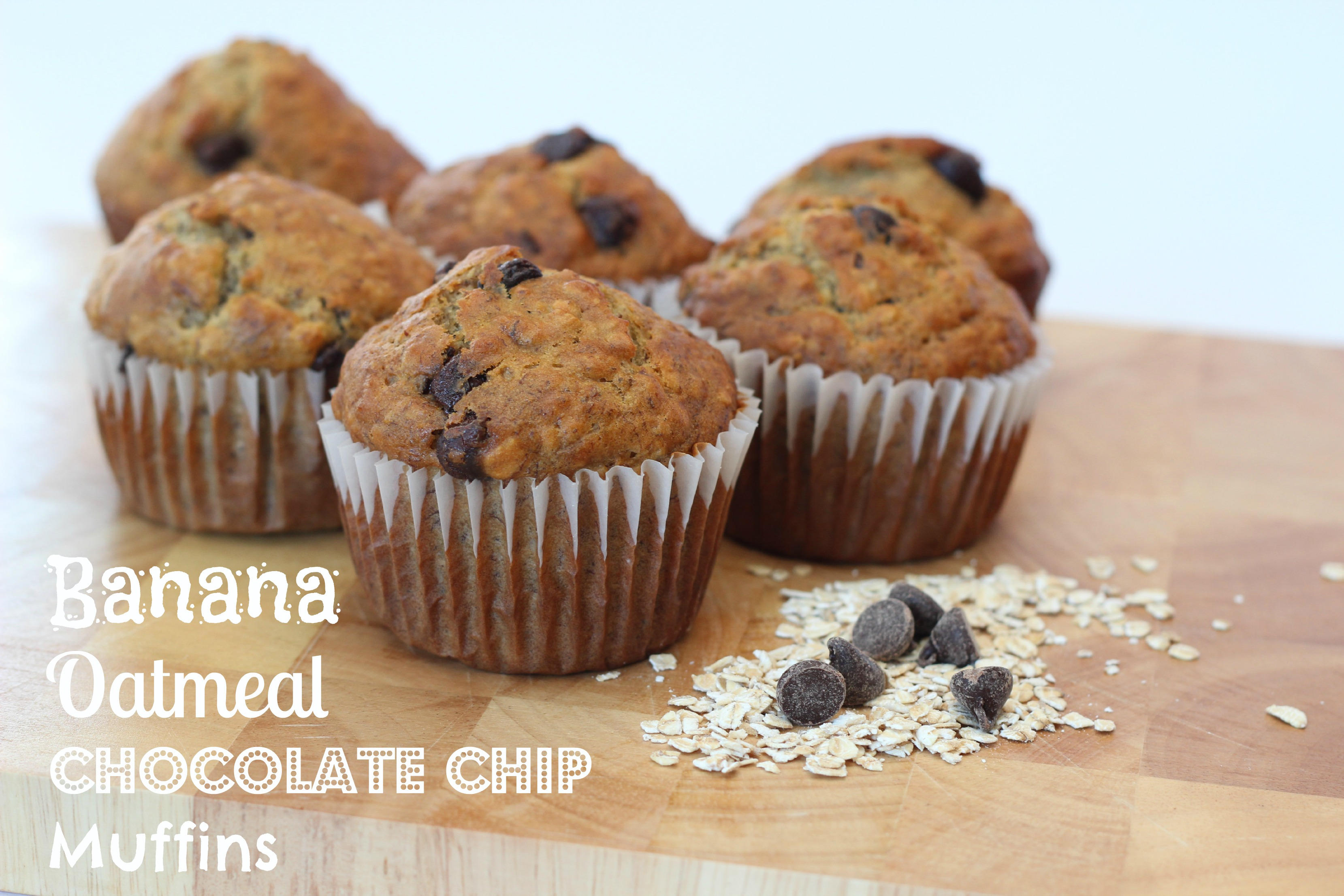 These Banana Oatmeal Chocolate Chip Muffins are perfect for adding to ...