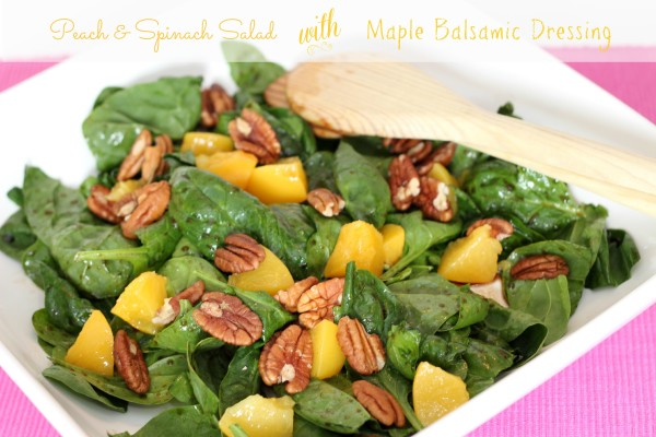 peach and spinach salad