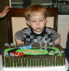 'Cars' Birthday Cake