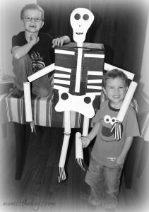 Skeleton Craft for Kids!