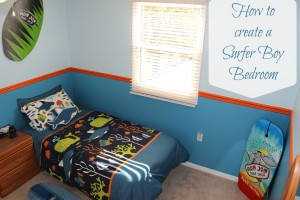 How to create a Surfer Boy Bedroom for your lil' surfer dude!