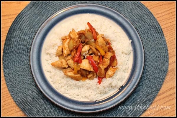 Basic Stir Fry with rice  - Mom vs the Boys