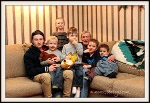 papa and boys