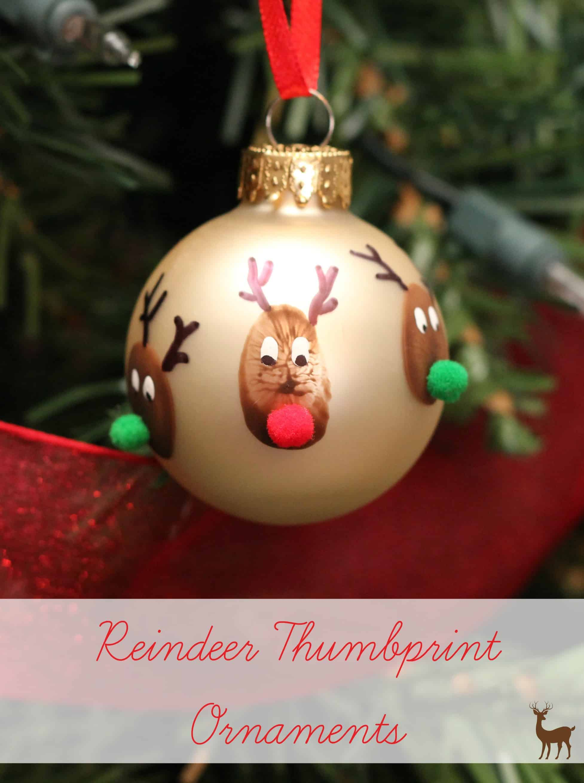 Reindeer Thumbprint Ornaments Mom Vs The Boys