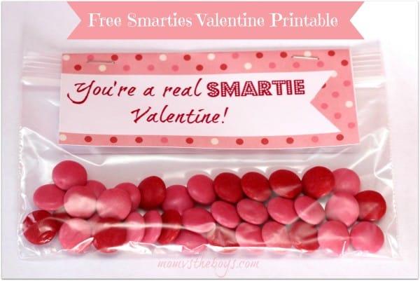 free smarties valentines printable
