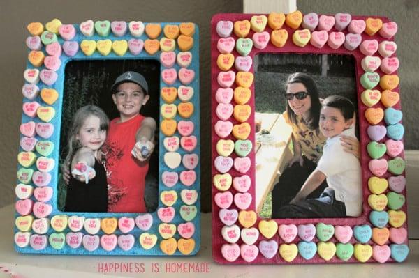 Valentines-Day-Kids-Craft-Conversation-Heart-Picture-Frames