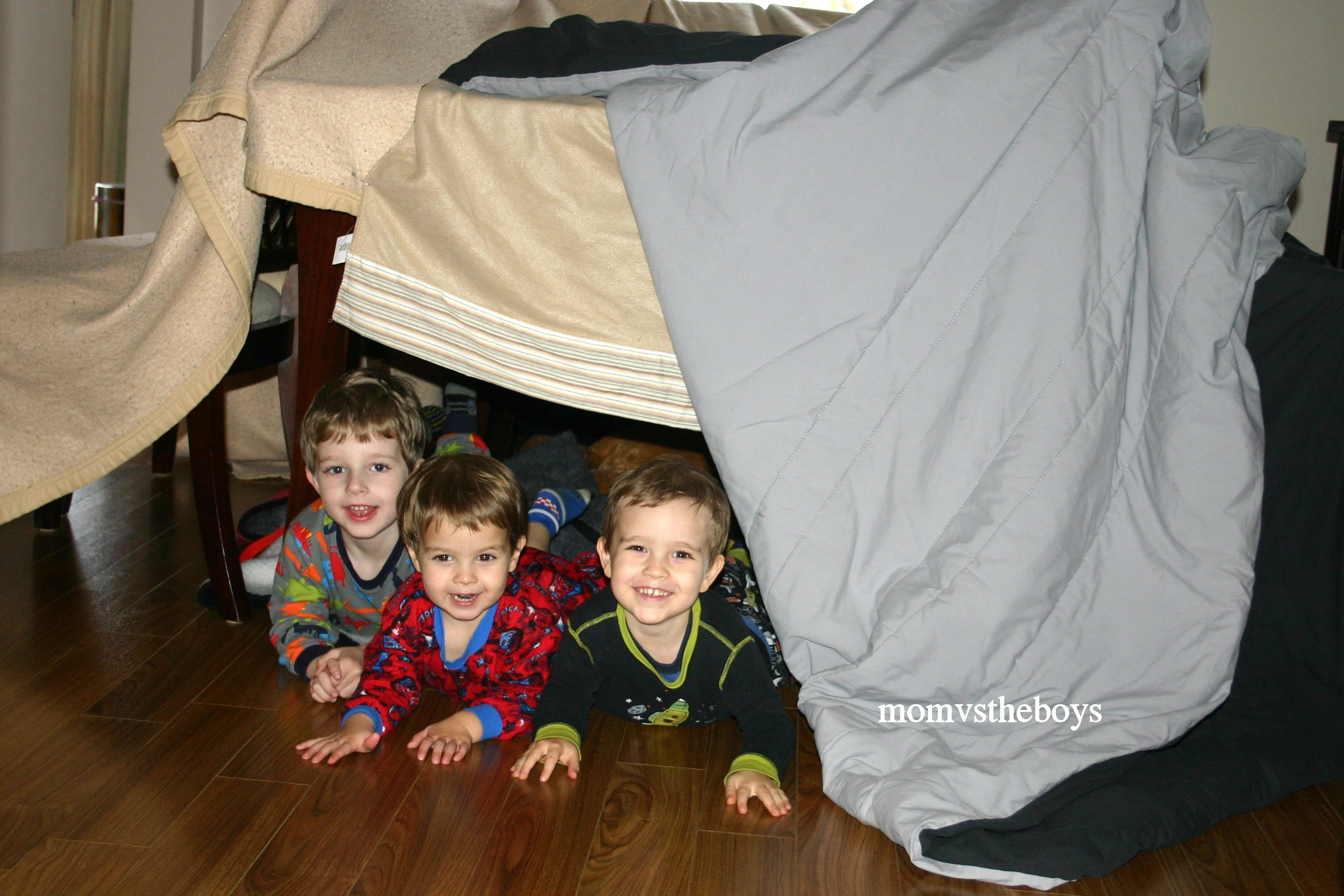 fort. 5 Ways to keep your Boys busy this Winter   Mom vs the Boys