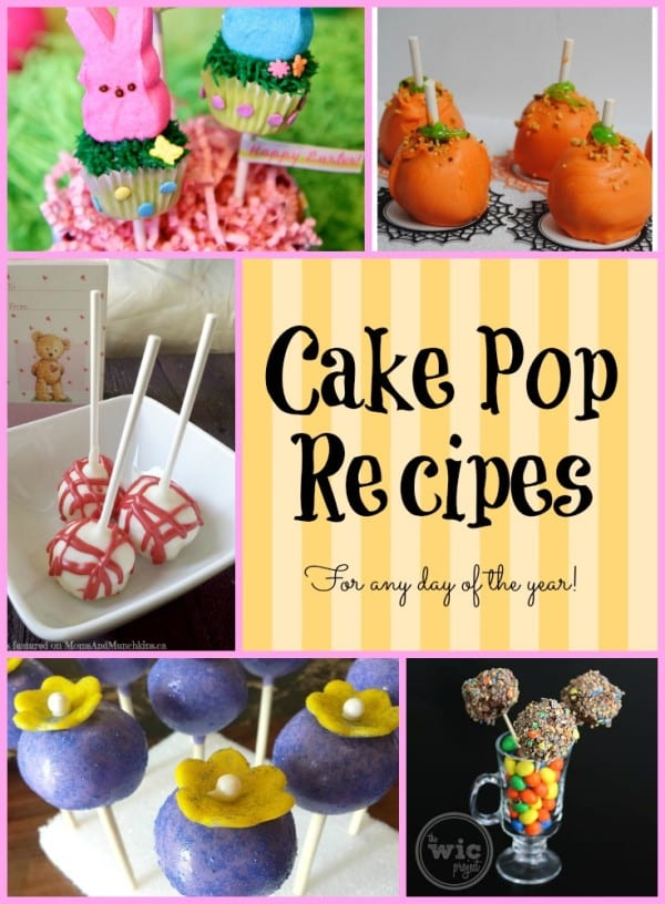 cake pop recipes, for any day of the year
