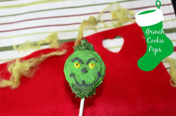 grinch cookie pops