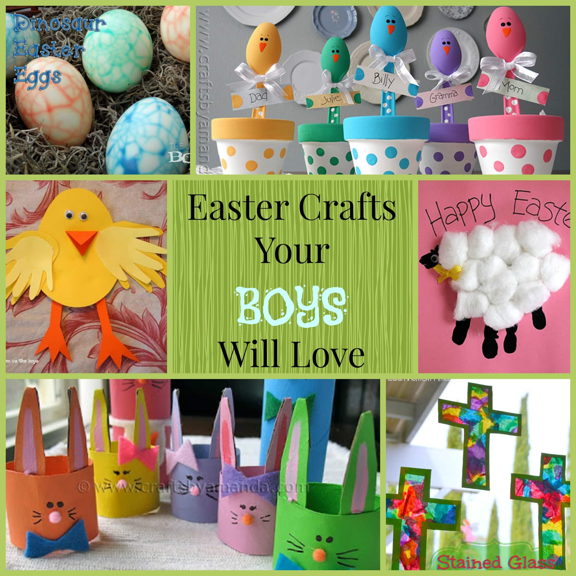 Boys arts and crafts - Easter Crafts For Boys Easter Craft Collage