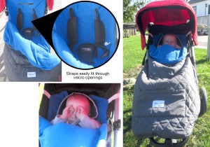 Keeping warm with the Nomie Baby Stroller Blanket