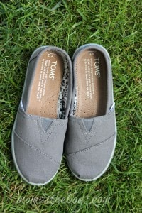 Kids can relax in style with TOMS shoes