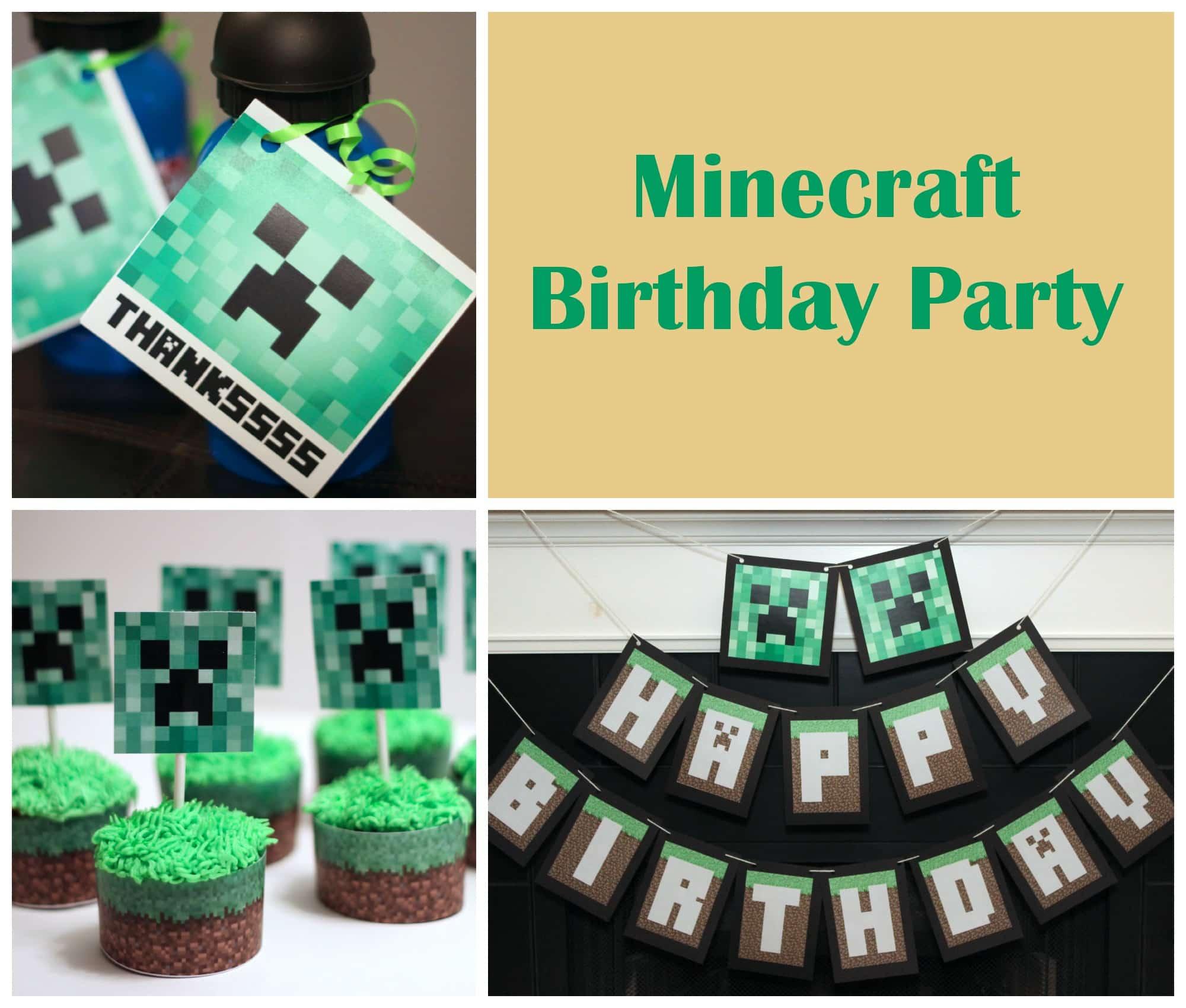 Mine craft birthday ideas - Minecraft Birthday