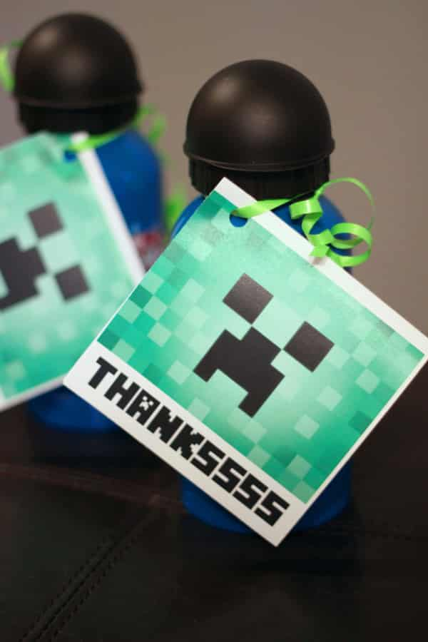 minecraft thank you cards