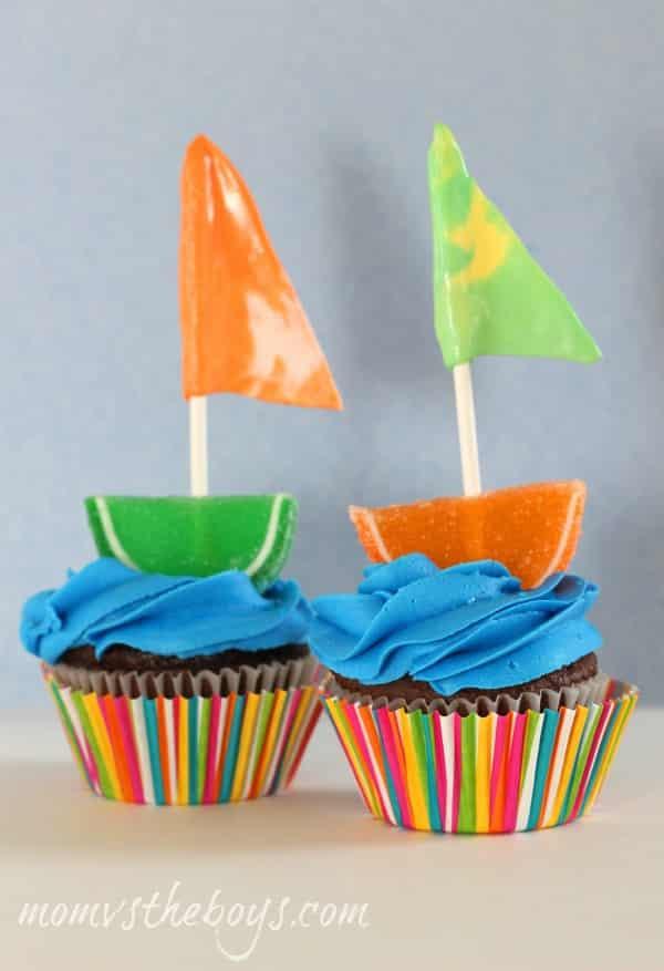 sailboat cupcakes