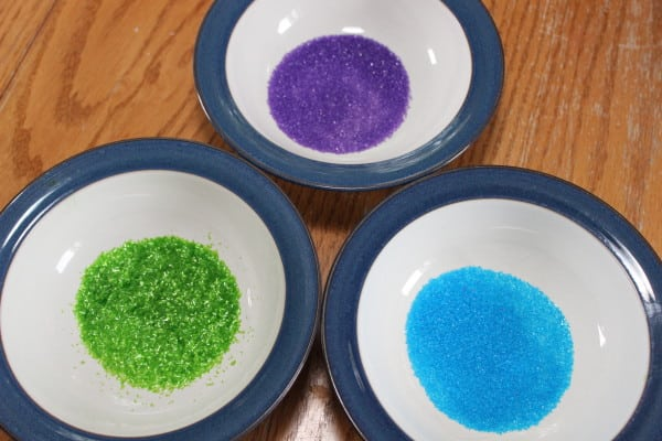 coloured sugar