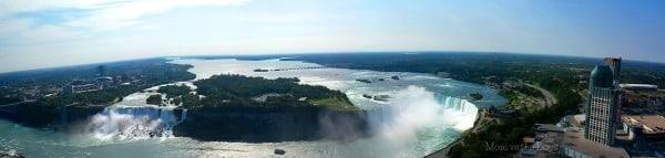 panoramic of Niagara Falls