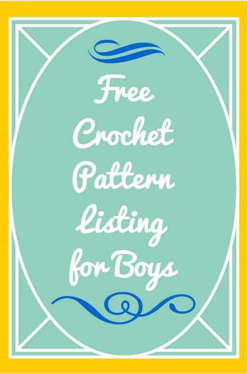 free crochet patterns for boys