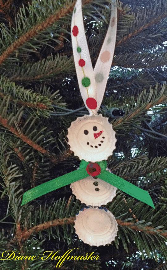 bottlecap snowman