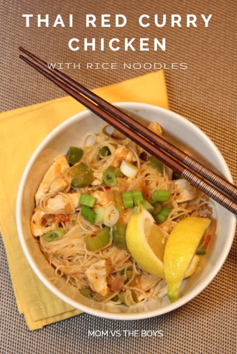 Thai Red Curry Chicken with Noodles