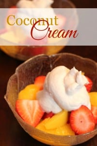 Sweet and Easy Coconut Cream