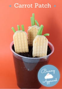 Carrot Patch Pudding Cups, perfect for Easter!