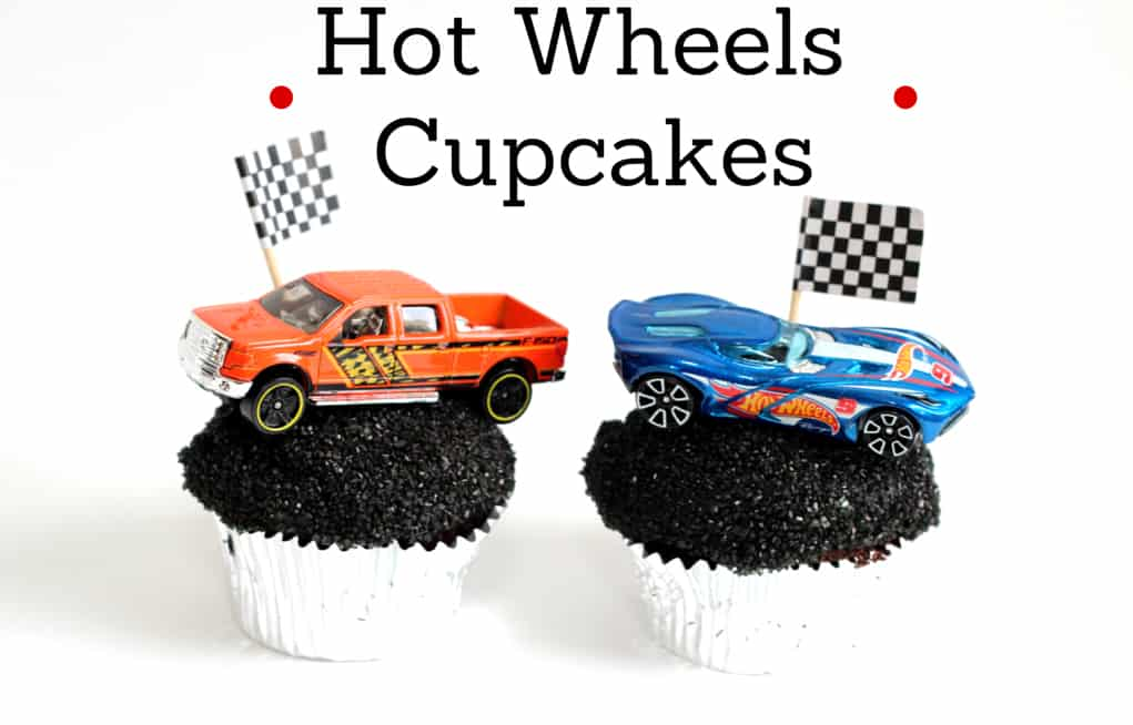 Hot Wheels Birthday Party + Cupcakes - Mom vs the Boys