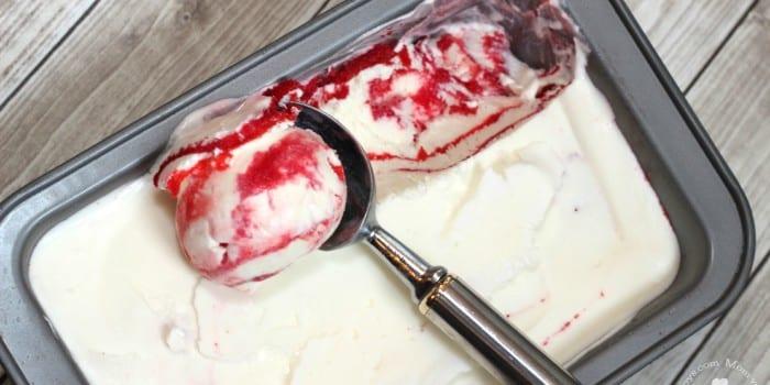 Jell-O Swirl Ice Cream for Canada Day