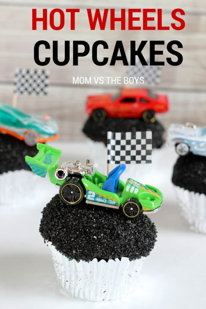 Hot Wheels birthday party cupcakes