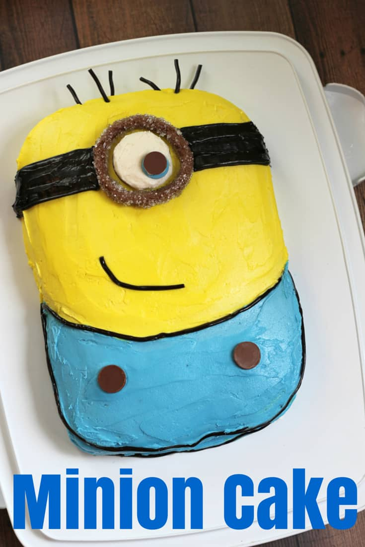 Minion Cake - Mom vs the Boys