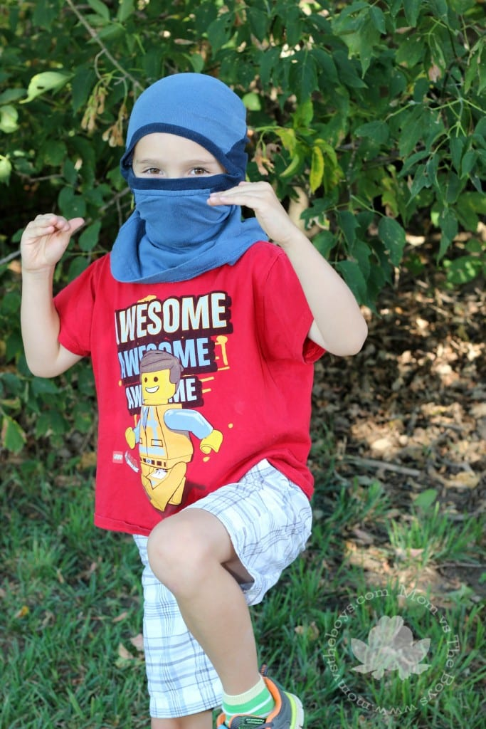 how to make a ninja mask from a t-shirt