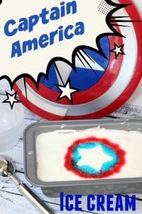 Captain America Inspired Ice Cream ~ AKA: Patriotic Jello Swirl Ice Cream