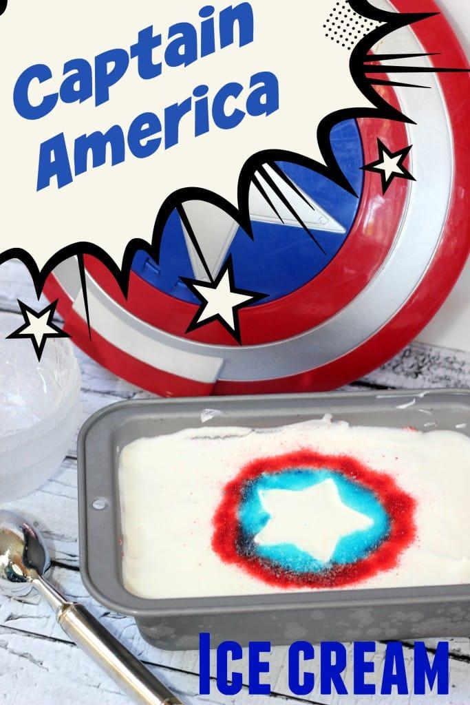 Captain America Ice Cream - Mom vs the Boys