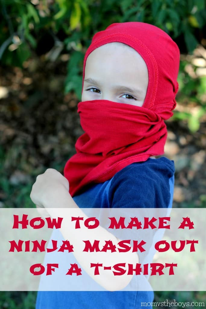 How to make a ninja mask from a t shirt   Mom vs the Boys. Mom vs the Boys   a boy is noise with dirt on it