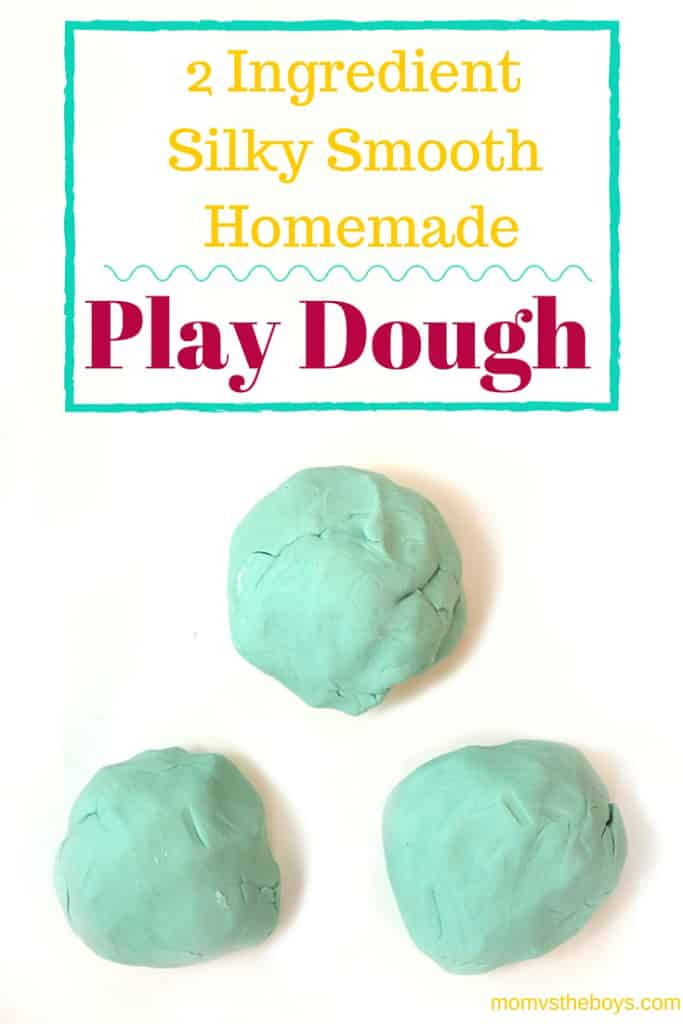 2 ingredient, silk smooth, homemade play dough
