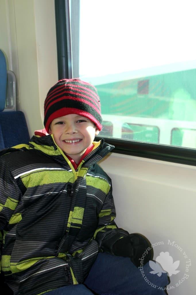 Riding the Go Train