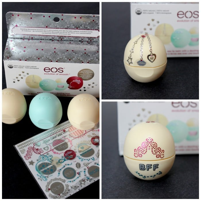 eos holiday trio with sticker bling