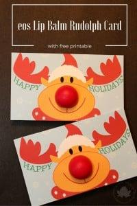 eos Lip Balm Rudolph Card Printable