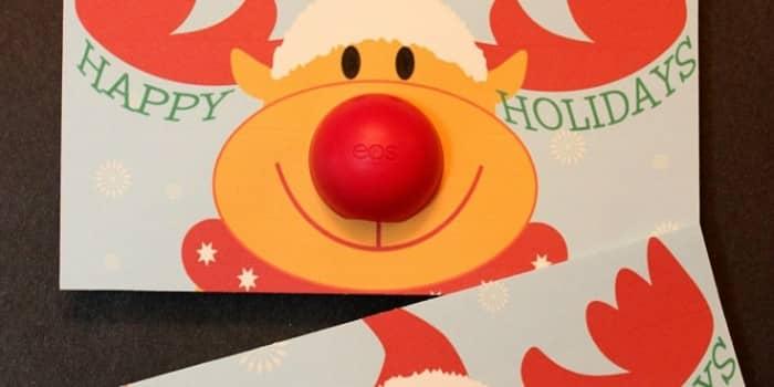 EOS Lip Balm Rudolph Gift Printable