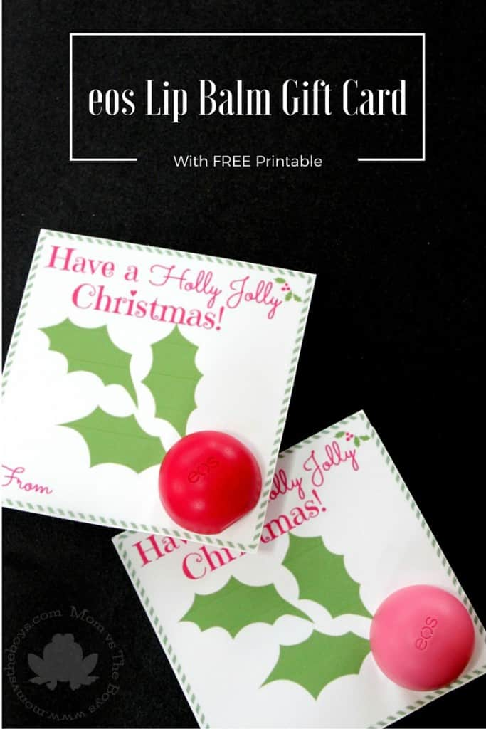 eos Lip Balm Gift Card with Printable