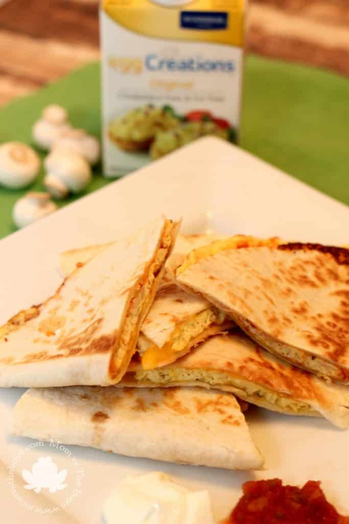 Pizz-Oma-Dilla - A mash-up of pizza, omelets and quesadillas
