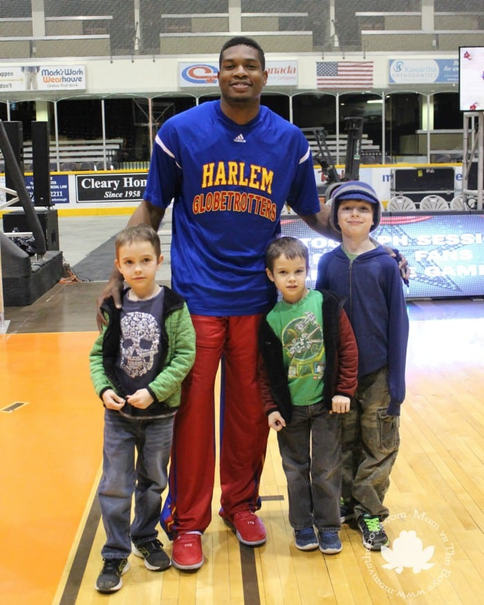 group. Harlem Globetrotters Celebrate 90 Years    Mom vs the Boys