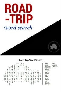 Are we there yet? Keep kids busy in the back seat with this Road Trip Word Search - Mom vs the Boys
