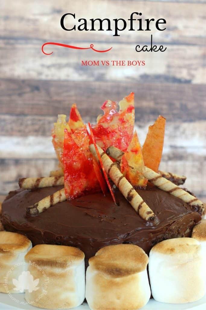 Campfire Cake - Mom vs the Boys